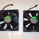 2 computer fans Nidec beta v TA 350DC MODEL m34709 55 electronic part 2 wire