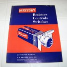 Mallory resistor controls switches catalog 9-136 vintage electronics catalog