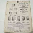 RCA Victor service data 1955 no.T8 television receivers vintage electronics