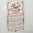 vintage 1976 cloth dish towel calendar rooster Dodson