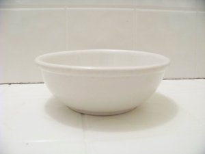 vintage Buffalo china white cereal bowl thick diner restaurant ware