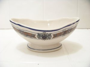 Ivory Lamberton Scammell vintage gravy boat made in America