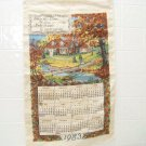 vintage 1983  cloth calendar bless this house oh lord we pray