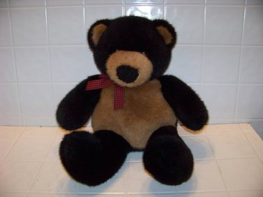 Dakin plush teddy bear black brown stuffed toy very soft very cute dont miss it