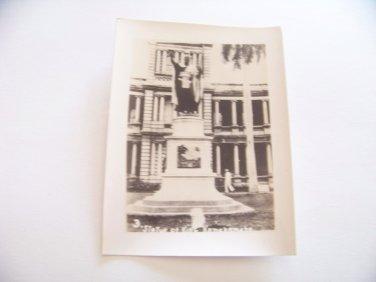 Vintage statue King Kamehameha Honolulu Hawaii photograph black white photo