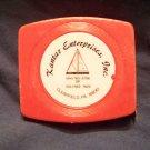 Vintage Lufkin advertising tape measure ruler tool Kantar Enterprises Clearfield