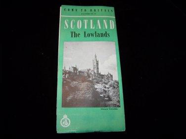 vintage Scotland Lowlands travel brochure pamphlet map advertising guide