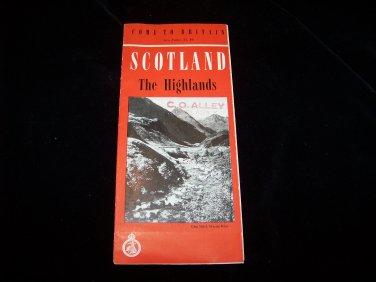 vintage Highlands of Scotland travel brochure pamphlet map advertising guide