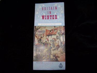 Vintage Britain in winter travel brochure pamphlet advertising