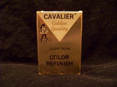 vintage Cavalier advertising shoe polish light bone color finish golden quality