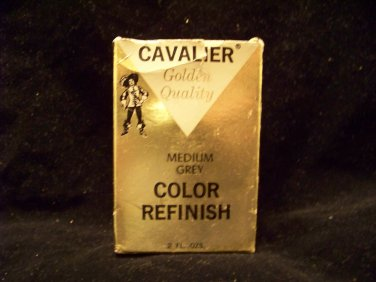 vintage Cavalier advertising shoe polish medium grey golden quality