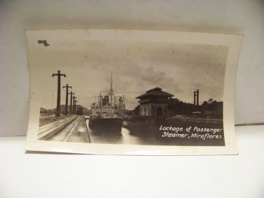 Vintage photograph locking of passenger steamer Miraflores Locks photo panama