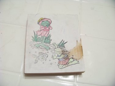 LARGE frog rubber stamp card making crafting scrapbooking