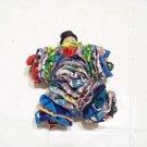 vintage yo yo doll handmade hobo clown jester cloth toy bells