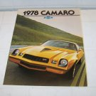 1978 Chevrolet Camaro brochure vintage advertising automotive 78