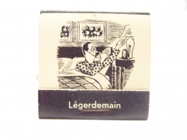 vintage Fractured French matchbook humor Legerdemain funny matches 1950's
