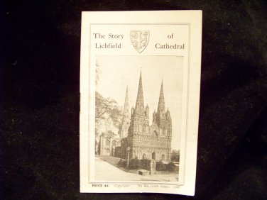 Vintage The Story of Lichfield Cathedral booklet pamphlet brochure 1947 religon