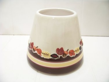 Mainstays ceramic candle shade harvest pattern Autumn leafs great for candles