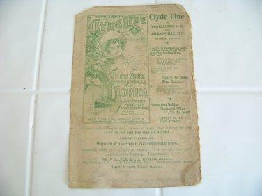 vintage Clyde Line advertising sailing passenger ship steamships steamers travel