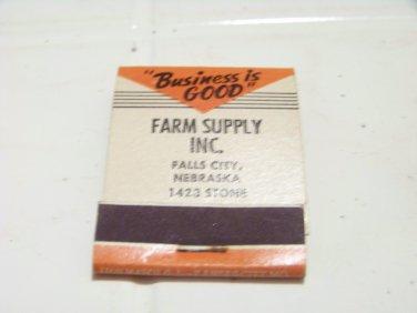 vintage front strike matchbook Farm Supply Nourse motor oil advertising