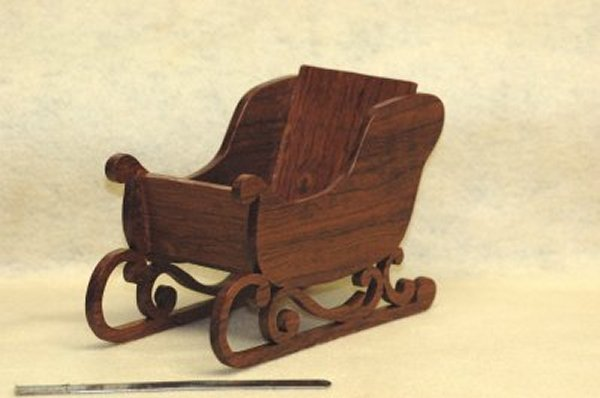 Wooden Sleigh Candy Dish