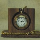 Wooden Pocketwatch with chain