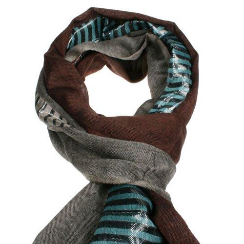 Petrol lurex scarf