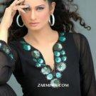 Black & Turquoise Tunic