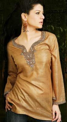 Brown Silk Tunic