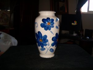Blue Flower Ceramic Floral Vase