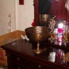 Antique French Bronze Frieze Fruit Bowl