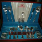 ROGER & BROS.1847 ETERNALLY YOURS SILVERWARE SET OF 71