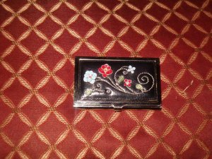 RARE BRIGHTON BUISSINESS CARD HOLDER/COMPACT MIRROR