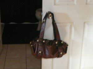 Twilight's Rockstar Collection Brown Leather Studded Handbag