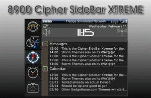Cipher Sidebar Extreme (Blackberry 8900)