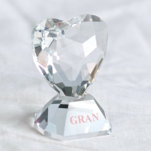 245a Stunning Crystal Gran Heart.