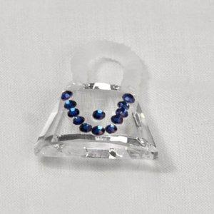 107 Crystal Handbag, Blue