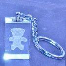 330 Laser Crystal Teddy Key Ring