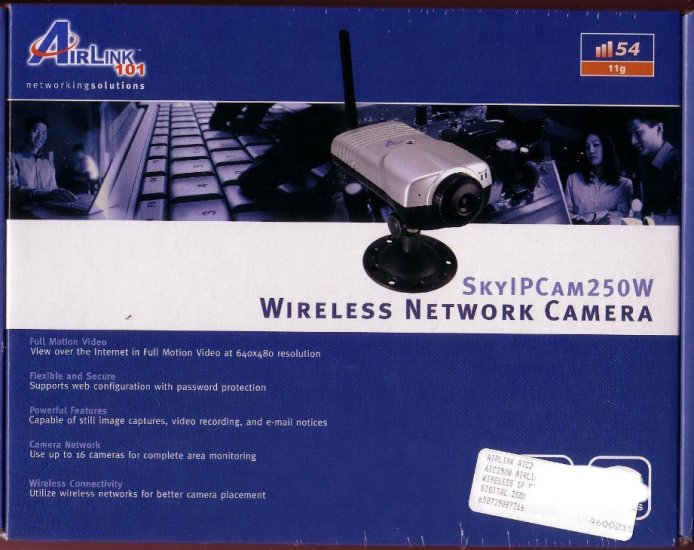 New Airlink Wireless Network Surveillance IP Camera 11G 54MBPS