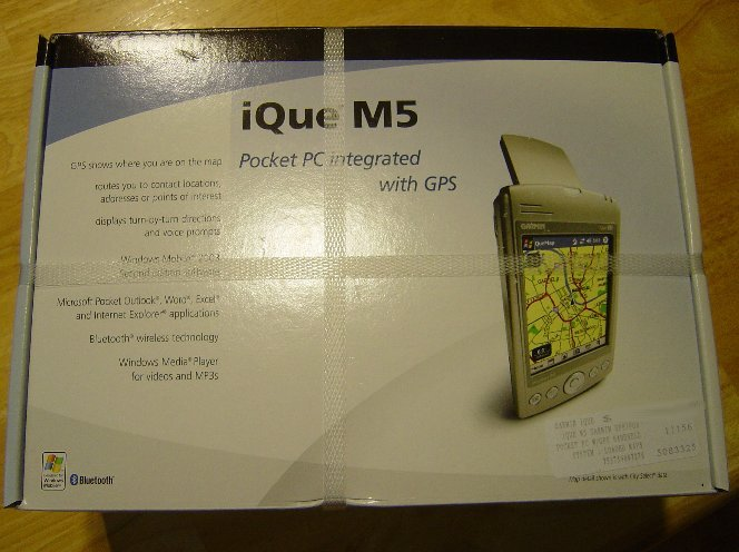 New Garmin iQue M5 GPS Receiver/Pocket PC PDA with US Mapsource