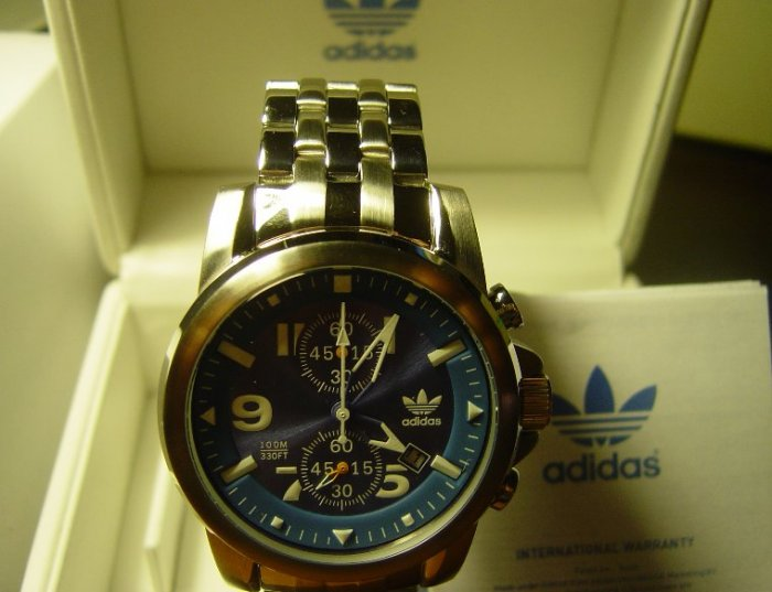 Adidas Adh1165 Stainless Steel Mens Bracelet Chronograph Watch