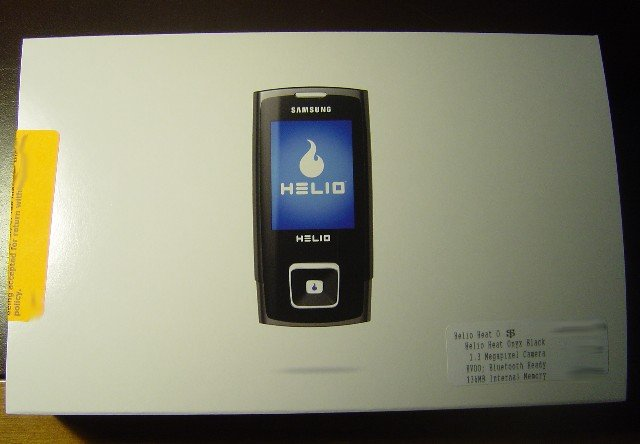 Brand New Samsung Helio Heat Onyx Black 3G Cell Phone 136MB Memory No Contract Needed