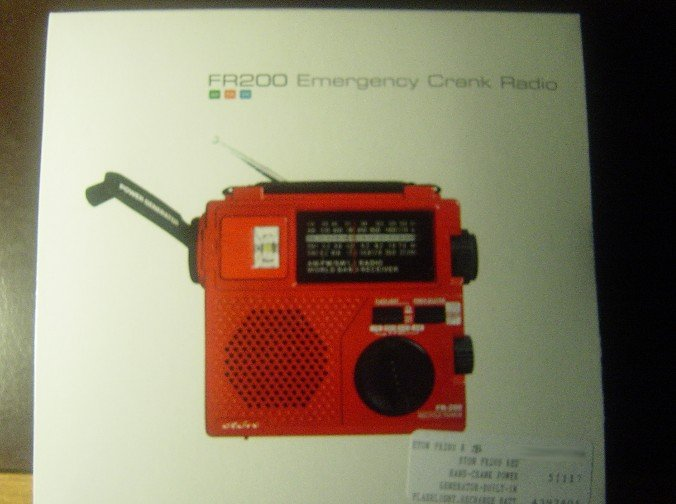 New Grundig Eton Emergency Crank Shortwave Radio FR200 RED