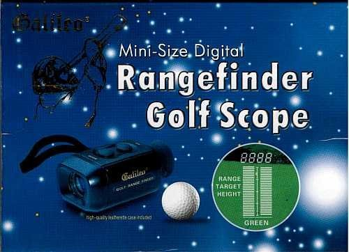 Brand New Galileo EGS-1 Electronic Golf Scope and Rangefinder