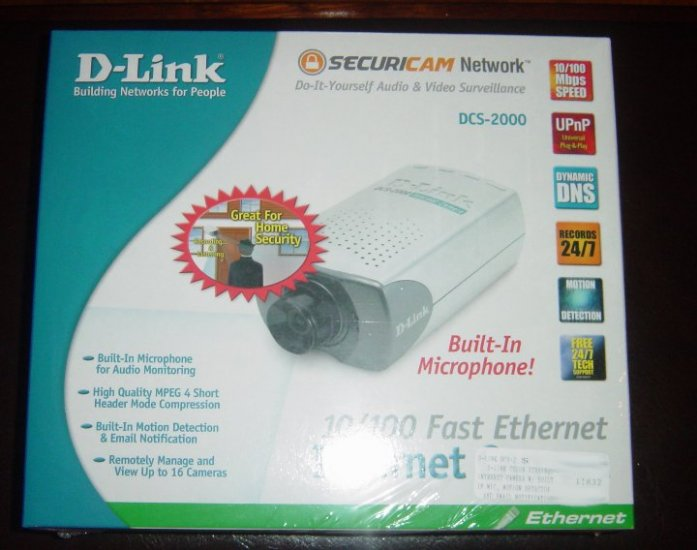 Brand New D-Link Dlink DCS-2000 10/100TX Internet Camera, Built-in Microphone
