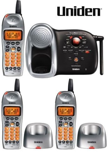 Uniden DCT648-3 2.4 GHz Digital Cordless Phone 3 Handsets, Digital Answering System