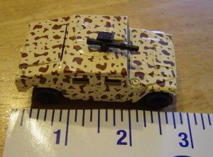 Matchbox Hummer Desert CAMO Military Vehicle Model