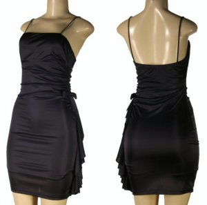 Junior Stretch Satin Cocktail Dresses with Side Bow