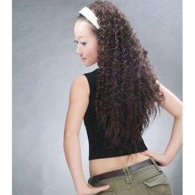 Long Curly Brown Hair Wig