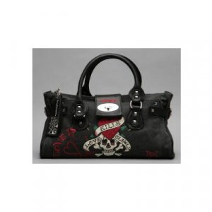 ED HARDY BLACK DIDDY BAG by Christian Audigier